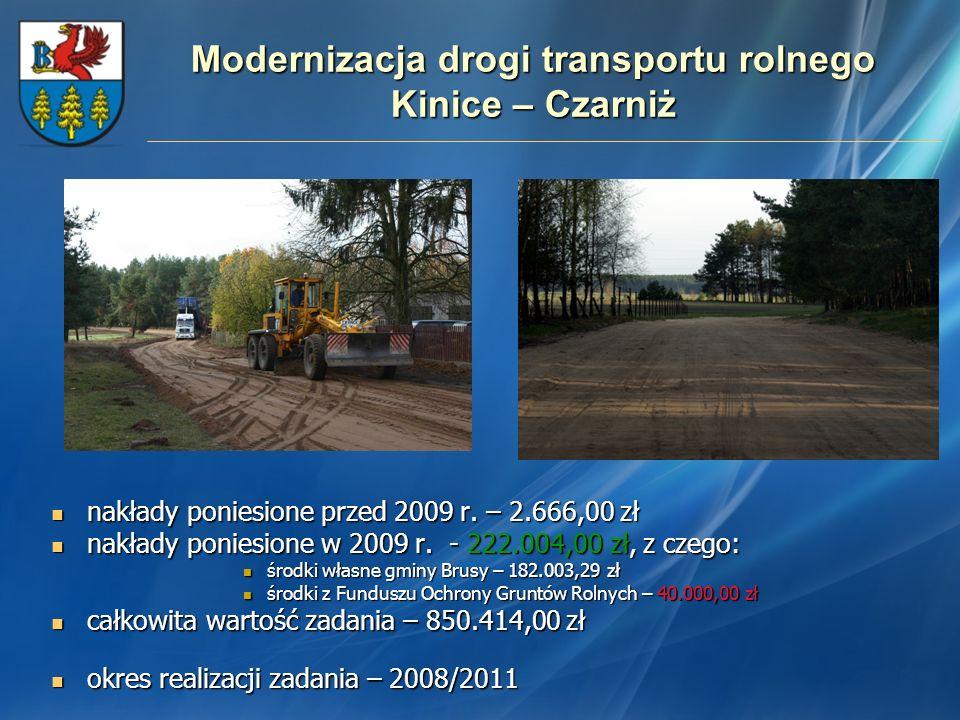 Modernizacja drogi transportu rolnego Kinice – Czarniż