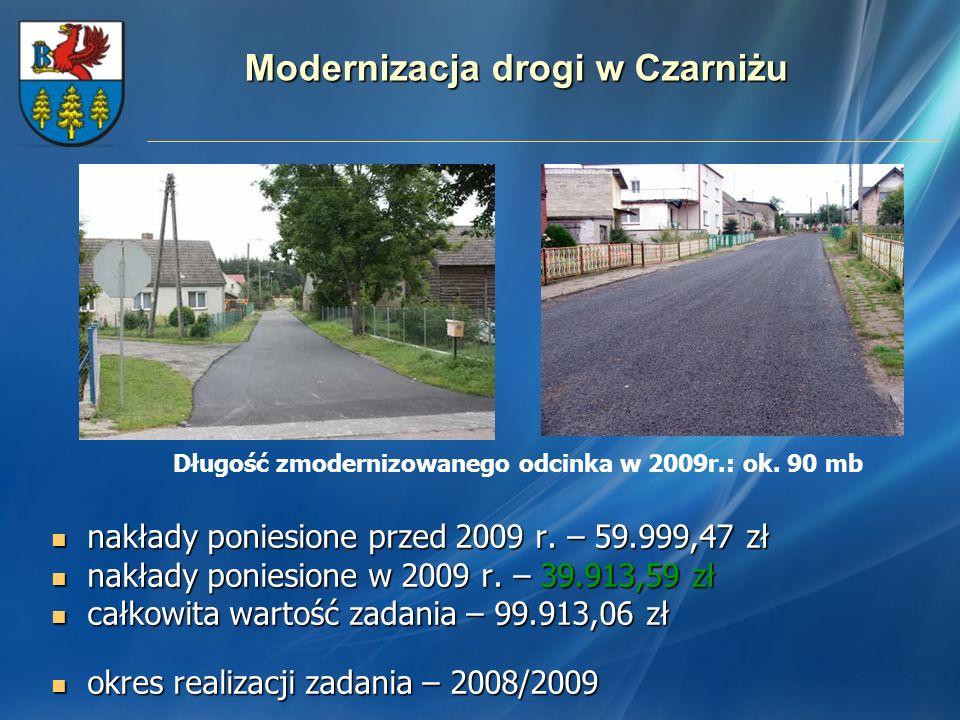 Modernizacja drogi w Czarniżu