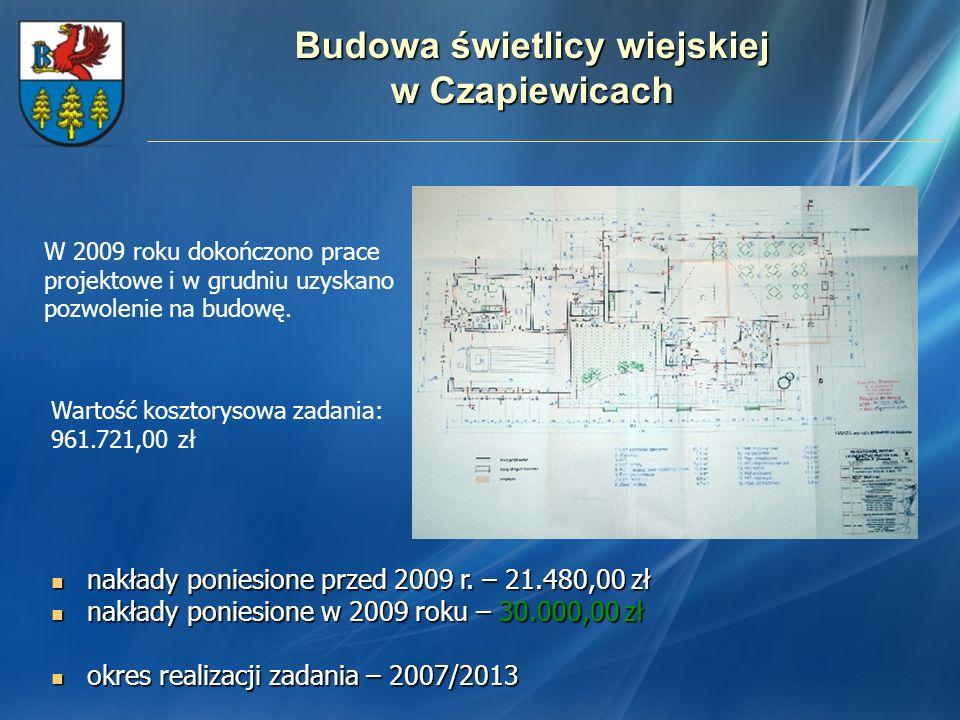 Budowa świetlicy wiejskiej w Czapiewicach