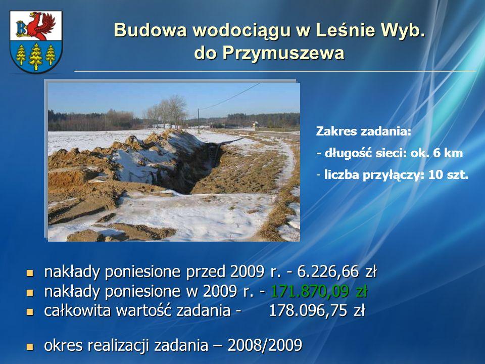 Budowa wodociągu w Leśnie Wyb. do Przymuszewa