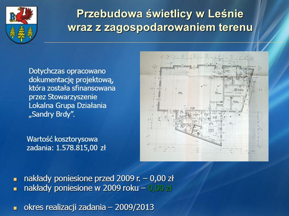 Przebudowa świetlicy w Leśnie wraz z zagospodarowaniem terenu