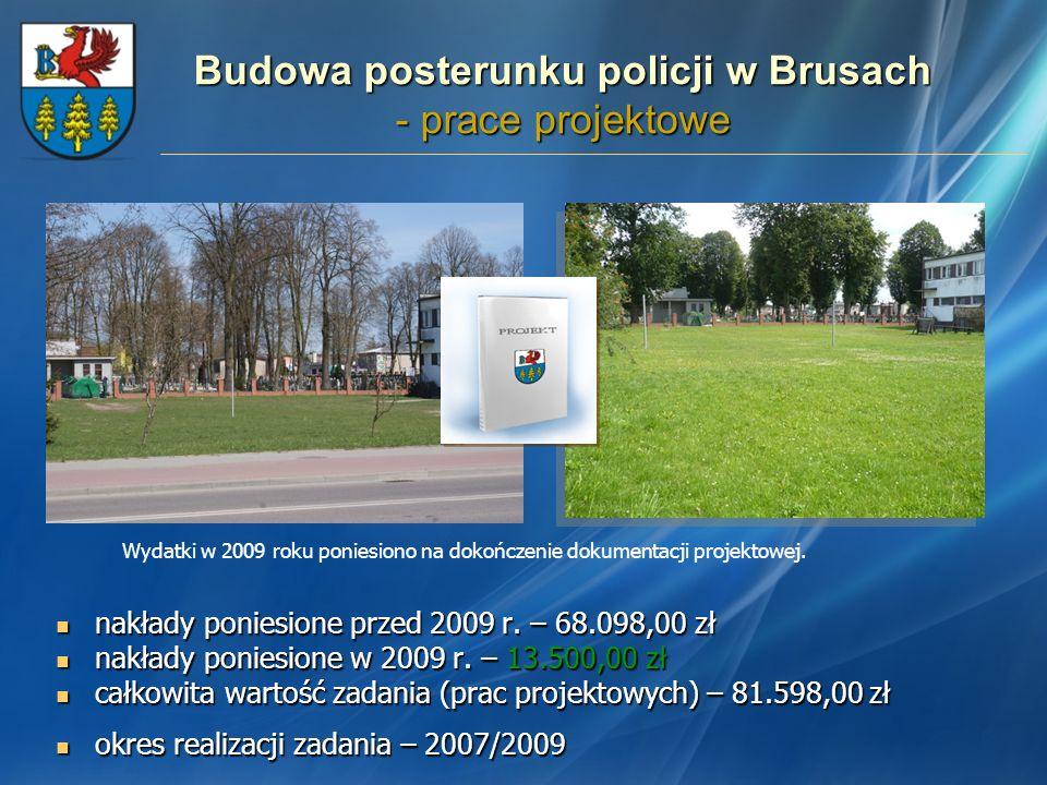 Budowa posterunku policji w Brusach - prace projektowe