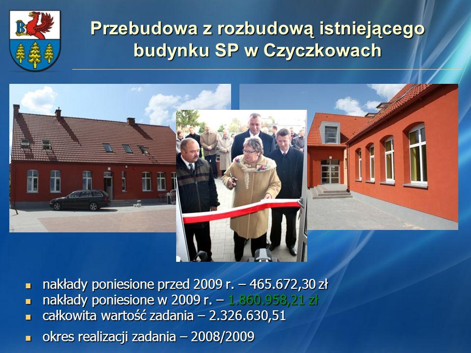 Przebudowa z rozbudową istniejącego budynku SP w Czyczkowach