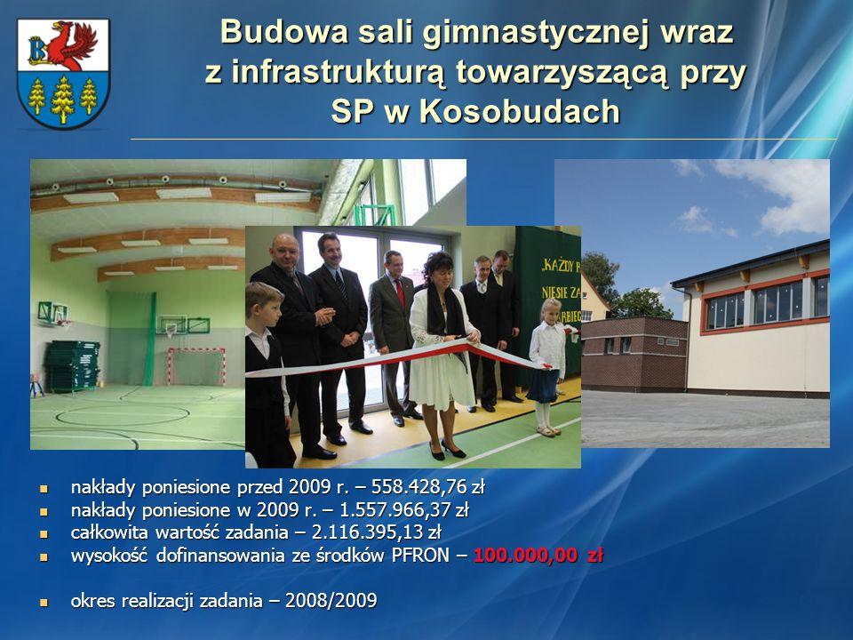 Budowa sali gimnastycznej wraz z infrastrukturą towarzyszącą przy SP w Kosobudach