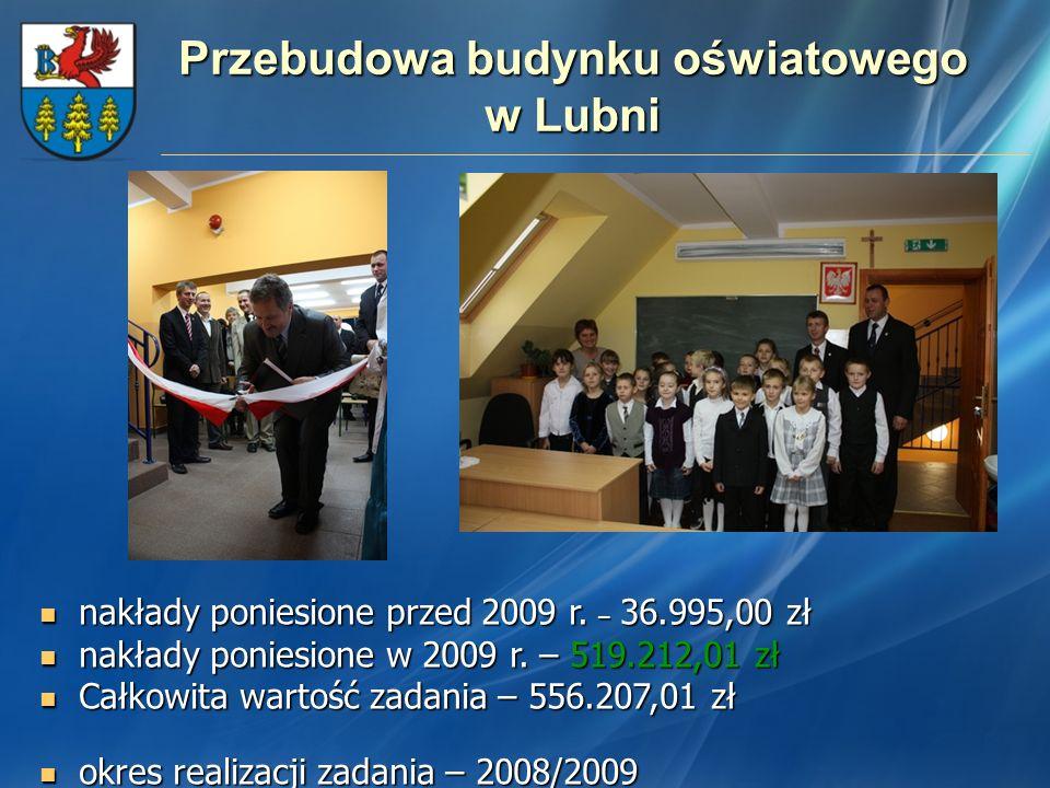 Przebudowa budynku oświatowego w Lubni