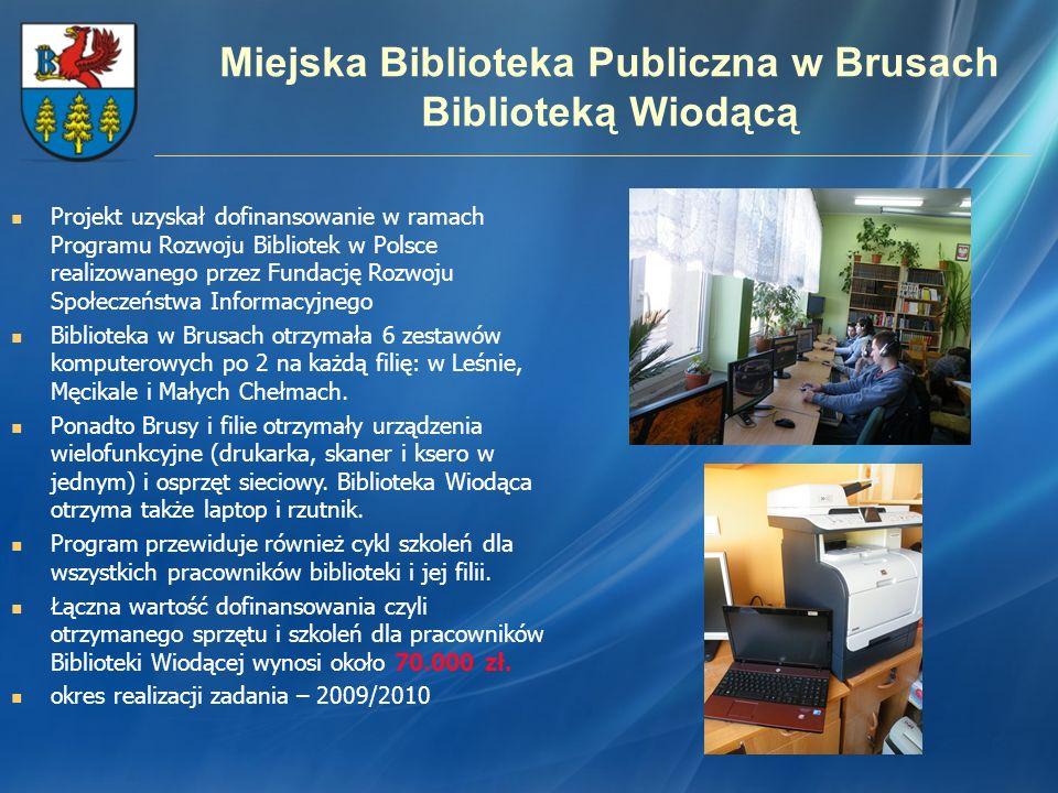 Miejska Biblioteka Publiczna w Brusach Biblioteką Wiodącą
