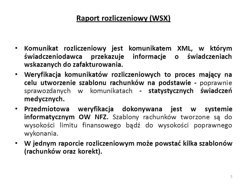 Raport rozliczeniowy (WSX)