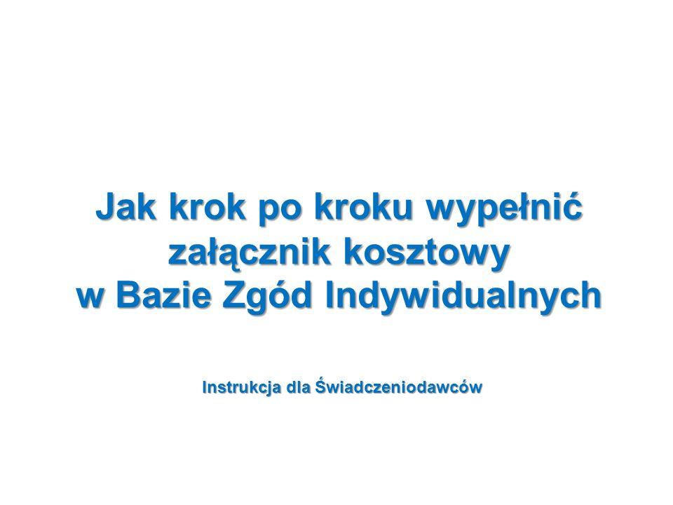 Instrukcja dla Świadczeniodawców