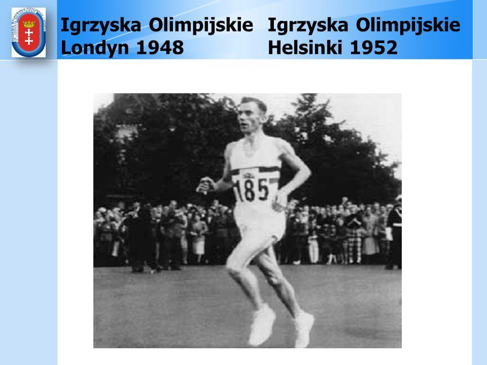 Igrzyska Olimpijskie Londyn 1948 Igrzyska Olimpijskie Helsinki 1952