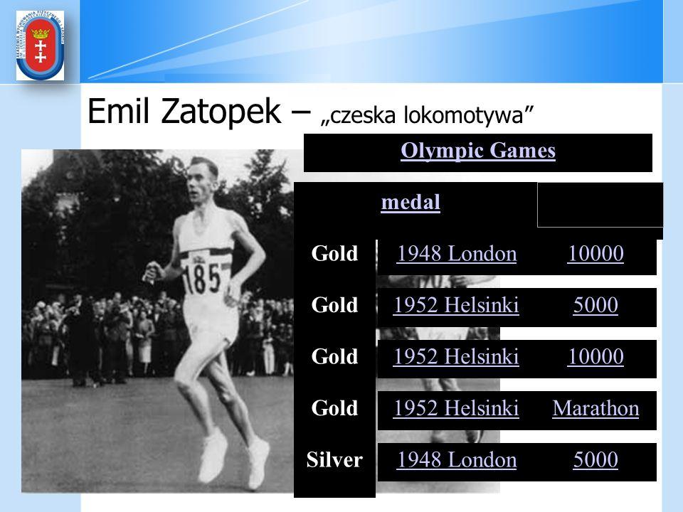 """Emil Zatopek – """"czeska lokomotywa"""