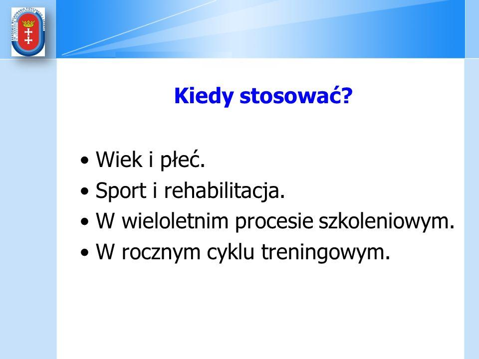 Kiedy stosować. Wiek i płeć. Sport i rehabilitacja.