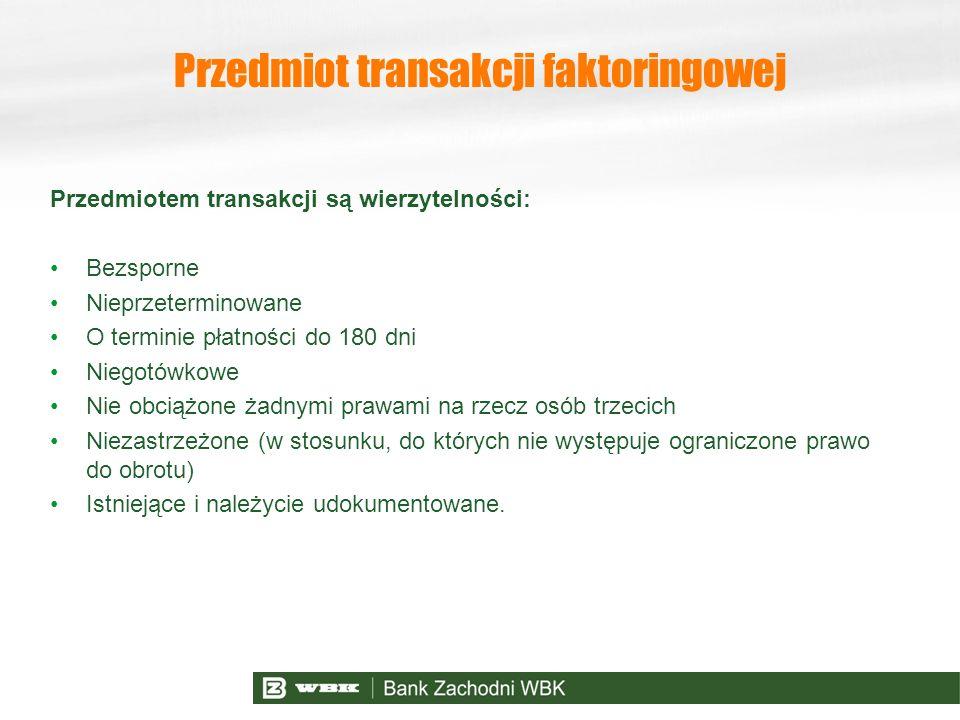 Przedmiot transakcji faktoringowej