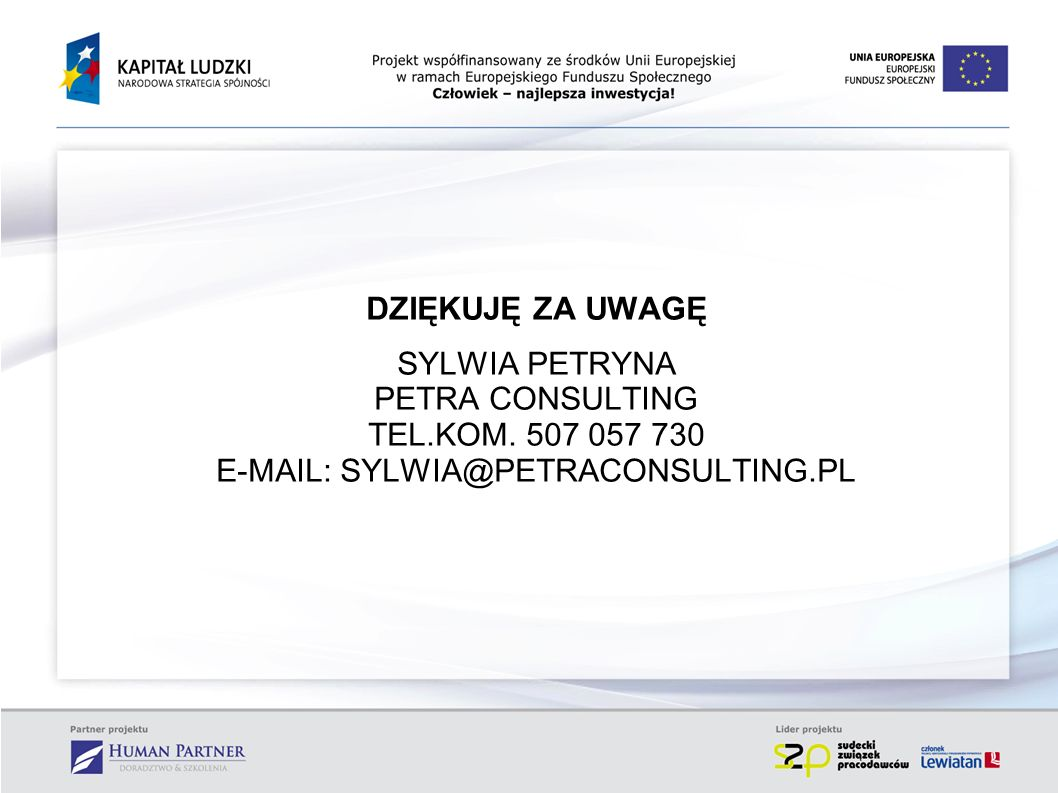 E-MAIL: SYLWIA@PETRACONSULTING.PL