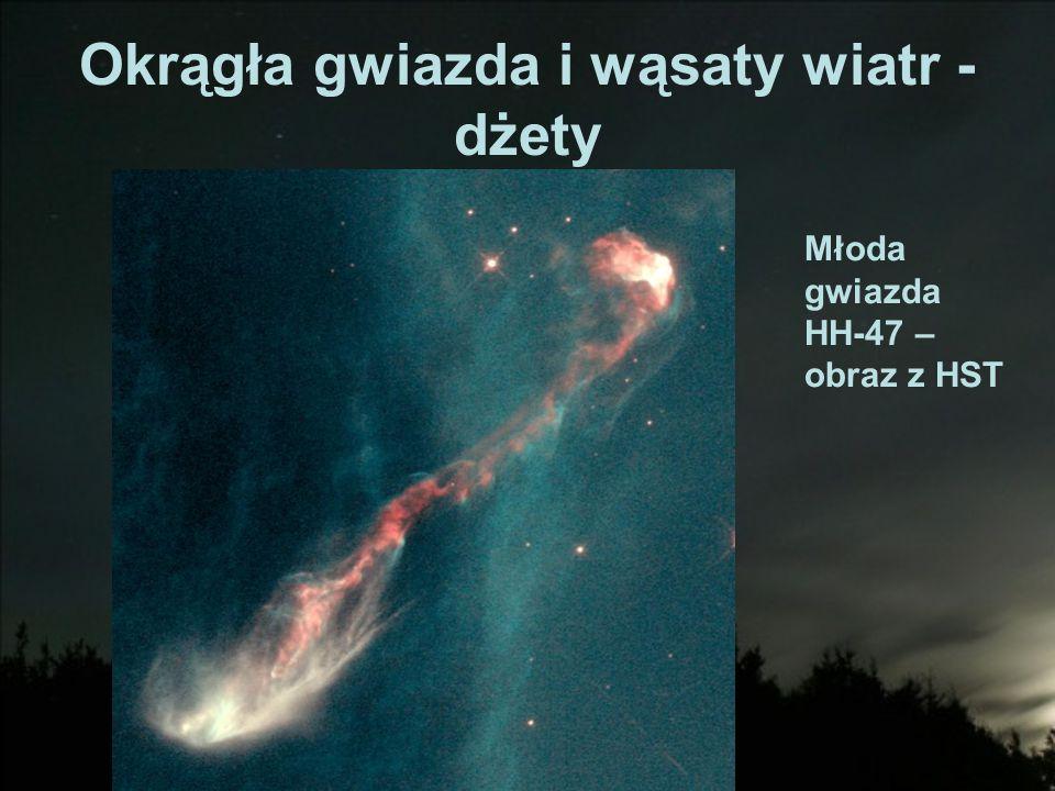 Okrągła gwiazda i wąsaty wiatr - dżety