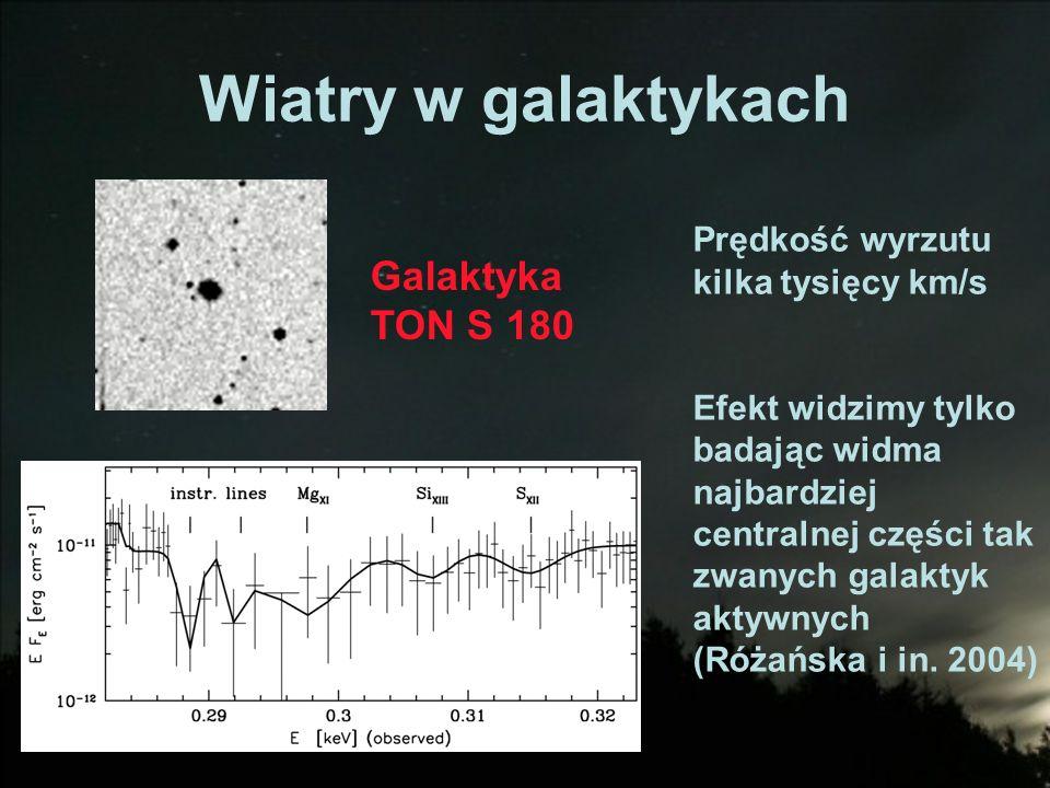 Wiatry w galaktykach Galaktyka TON S 180