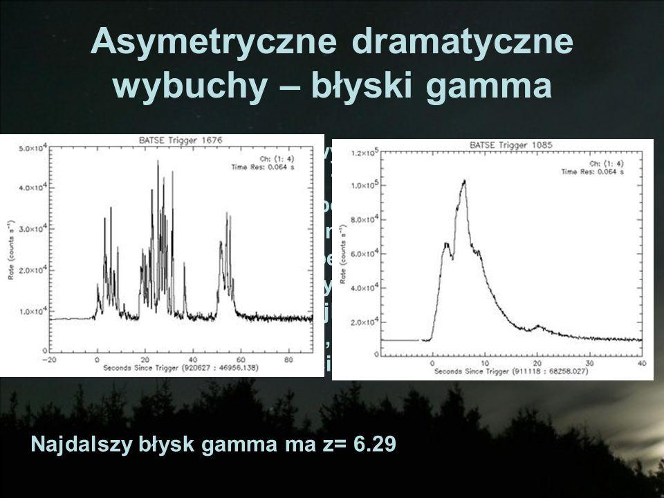 Asymetryczne dramatyczne wybuchy – błyski gamma