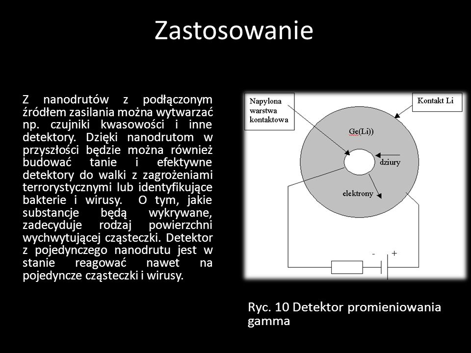 Zastosowanie Ryc. 10 Detektor promieniowania gamma