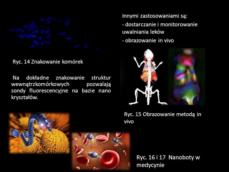Ryc. 16 i 17 Nanoboty w medycynie