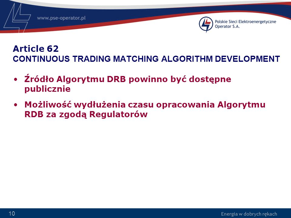 Article 62 CONTINUOUS TRADING MATCHING ALGORITHM DEVELOPMENT
