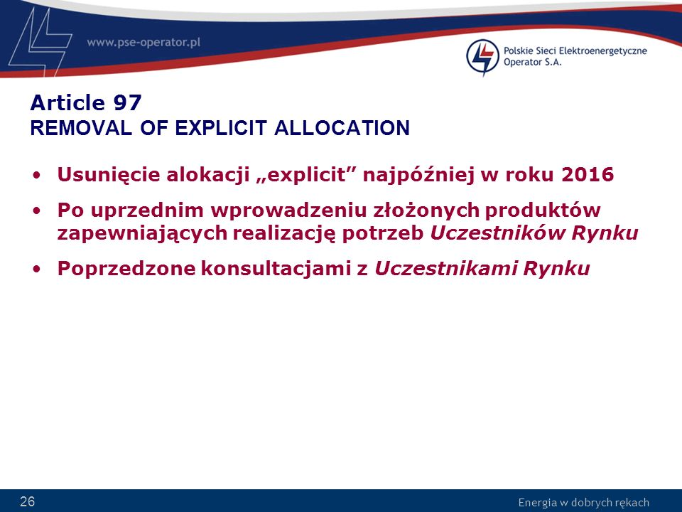 Article 97 REMOVAL OF EXPLICIT ALLOCATION