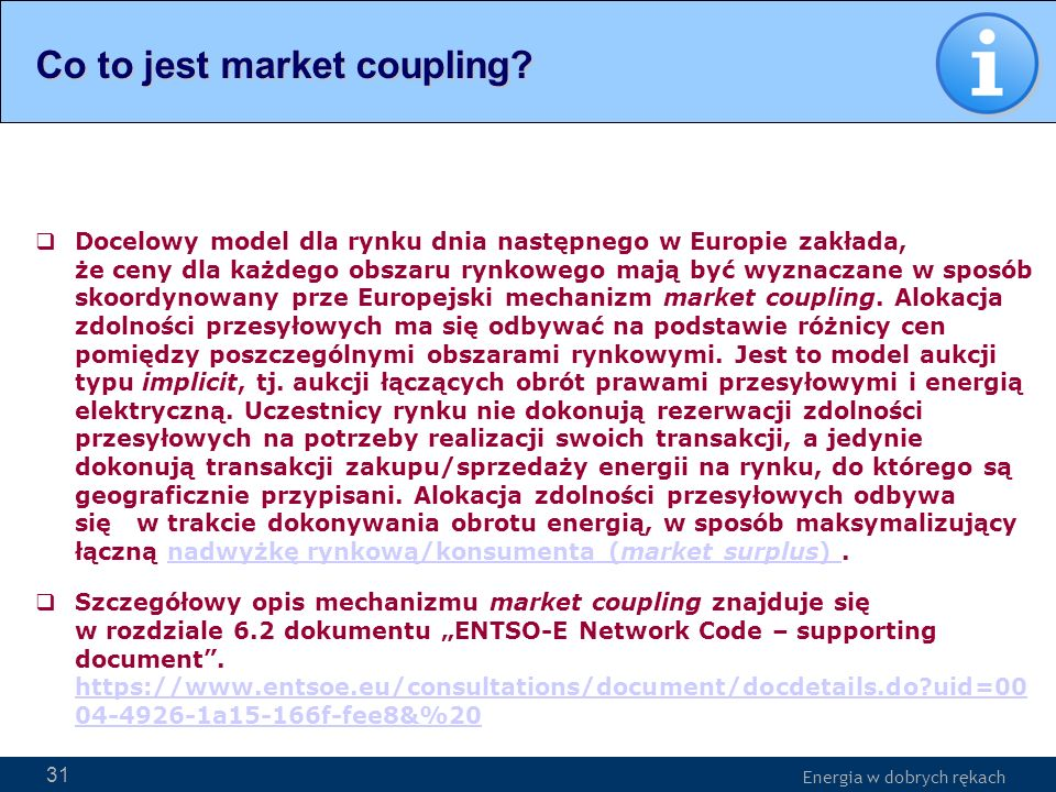 Co to jest market coupling