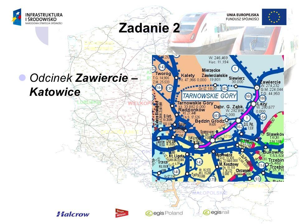 Zadanie 2 Odcinek Zawiercie – Katowice