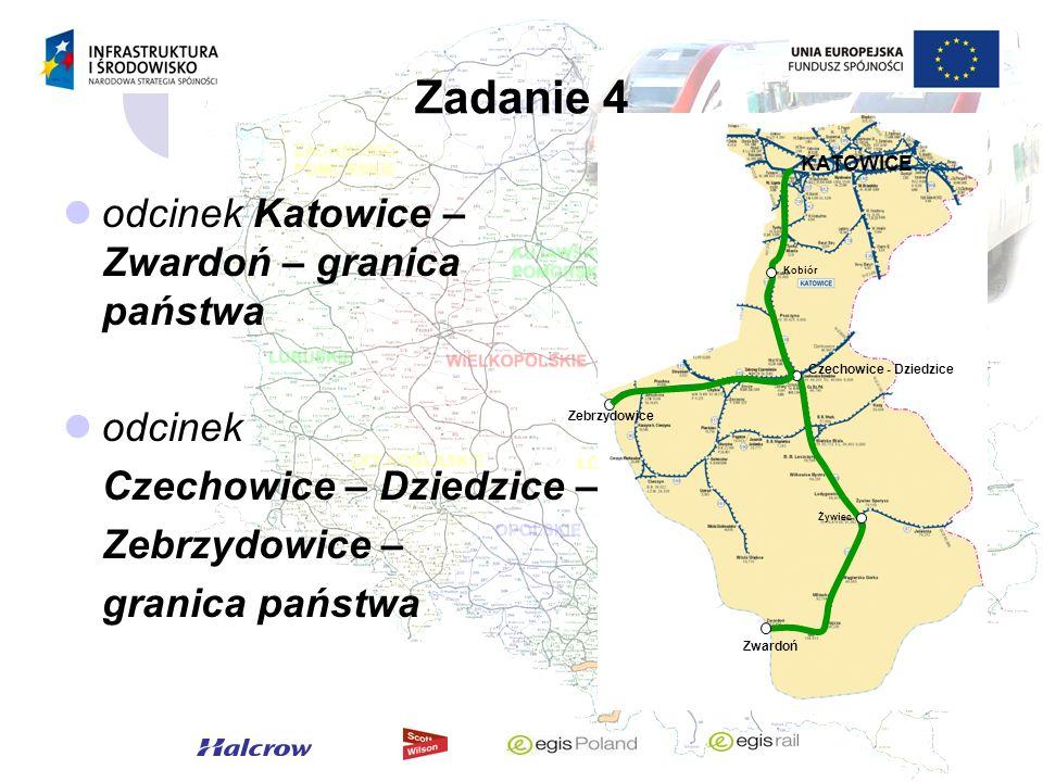 Zadanie 4 odcinek Katowice – Zwardoń – granica państwa odcinek