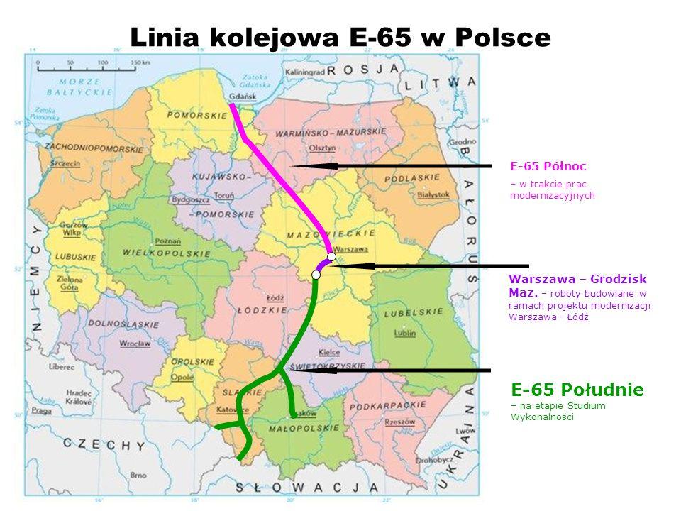 Linia kolejowa E-65 w Polsce