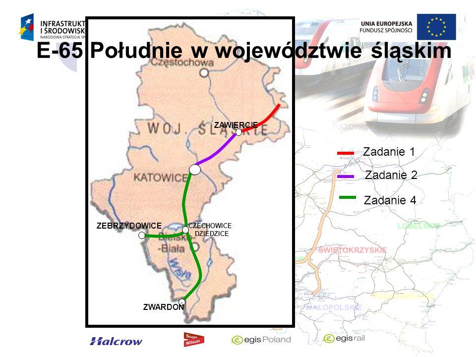 E-65 Południe w województwie śląskim