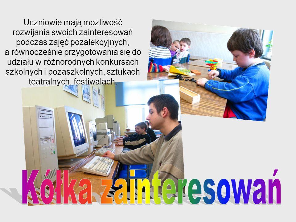 Kółka zainteresowań Uczniowie mają możliwość