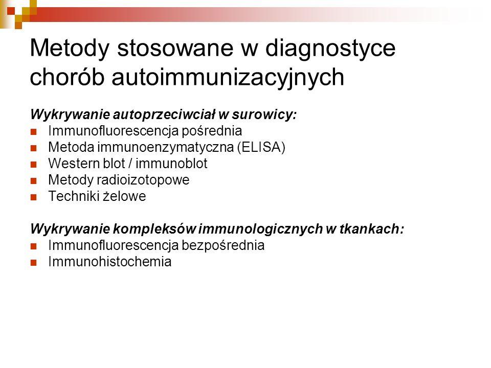 Metody stosowane w diagnostyce chorób autoimmunizacyjnych