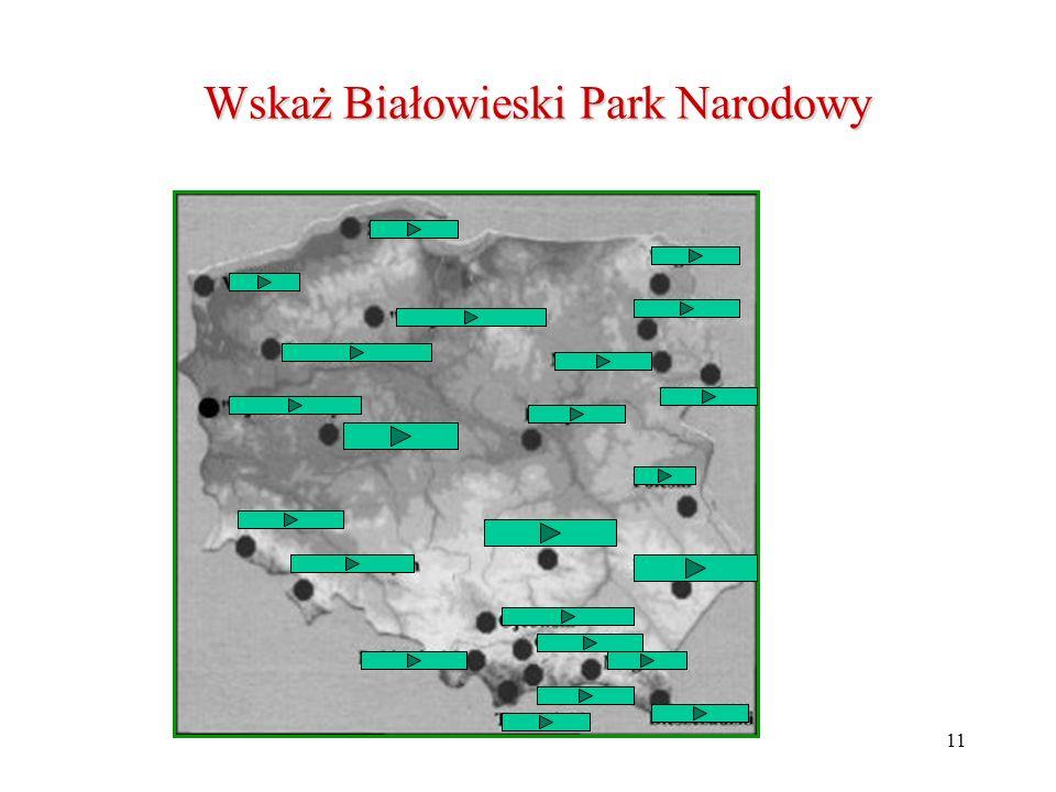 Wskaż Białowieski Park Narodowy