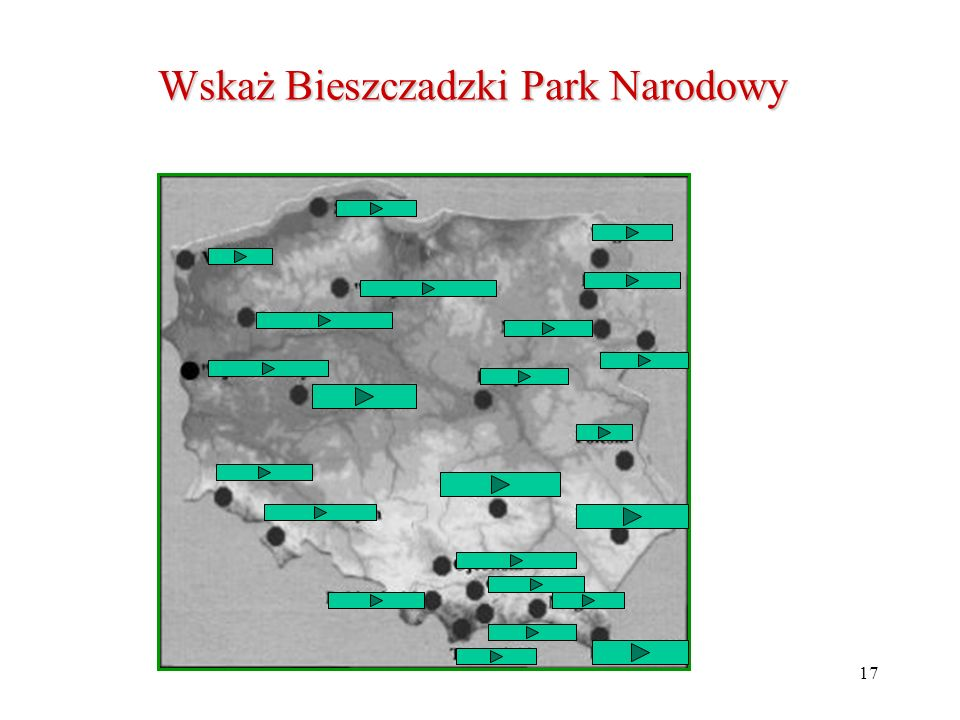 Wskaż Bieszczadzki Park Narodowy