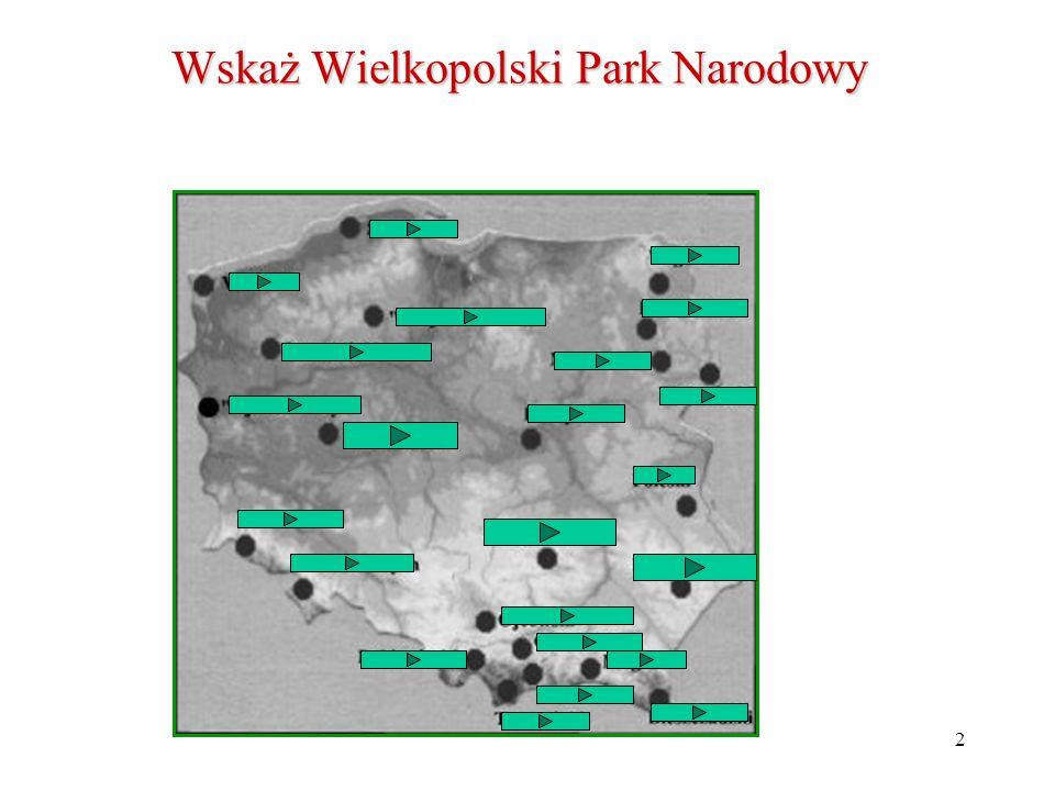 Wskaż Wielkopolski Park Narodowy