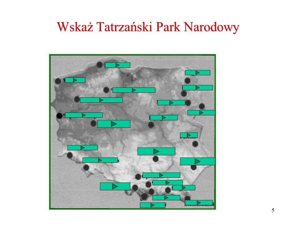 Wskaż Tatrzański Park Narodowy
