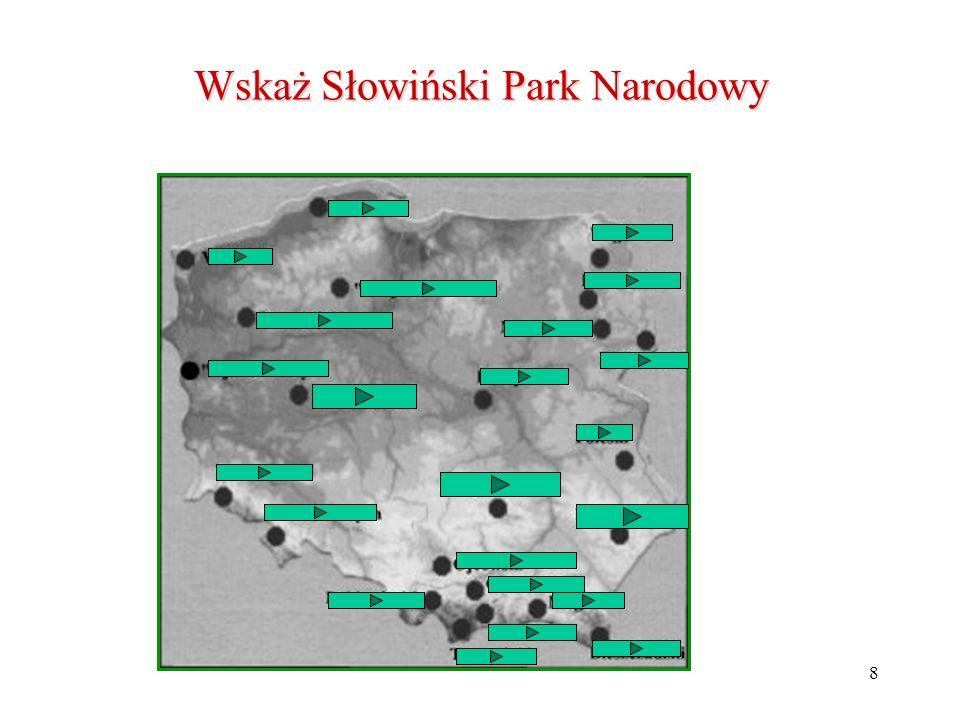 Wskaż Słowiński Park Narodowy