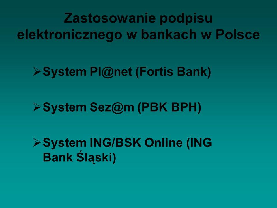 Zastosowanie podpisu elektronicznego w bankach w Polsce