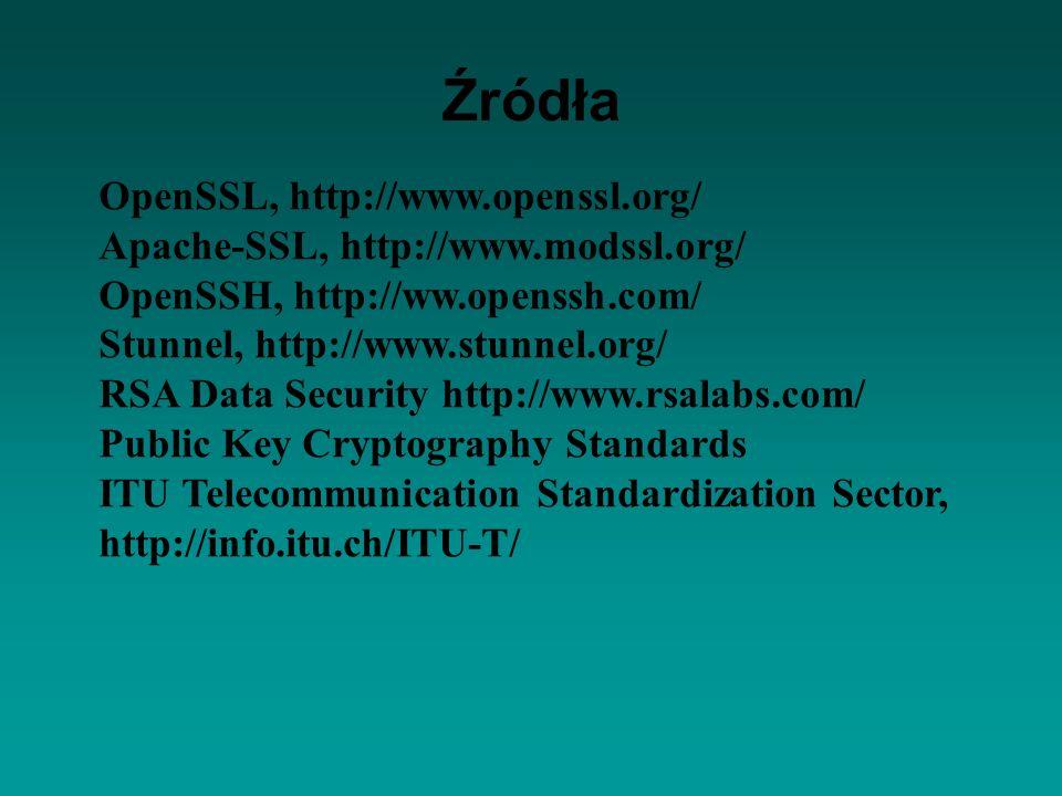 Źródła OpenSSL, http://www.openssl.org/