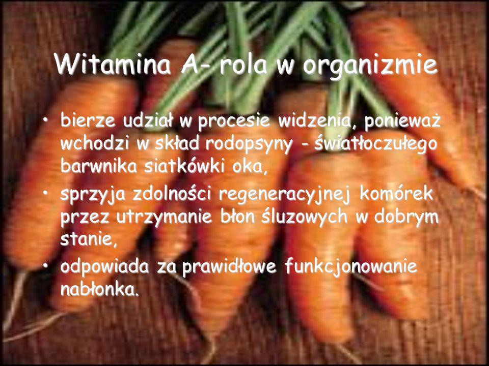 Witamina A- rola w organizmie