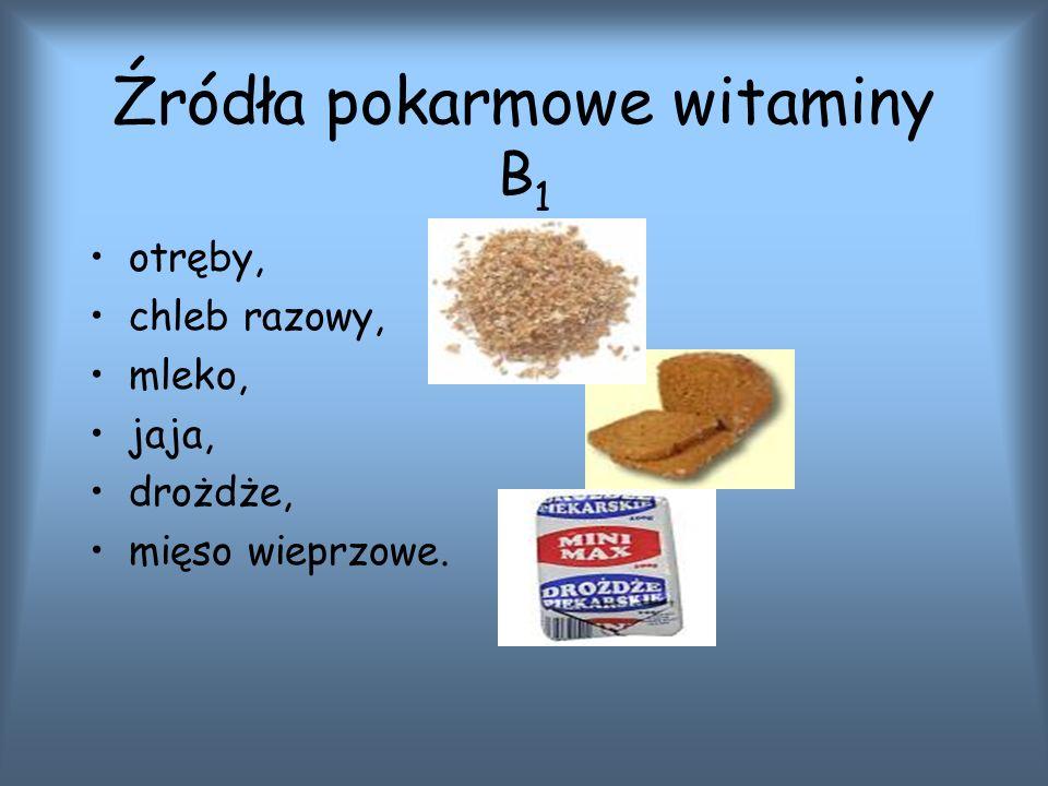 Źródła pokarmowe witaminy B1