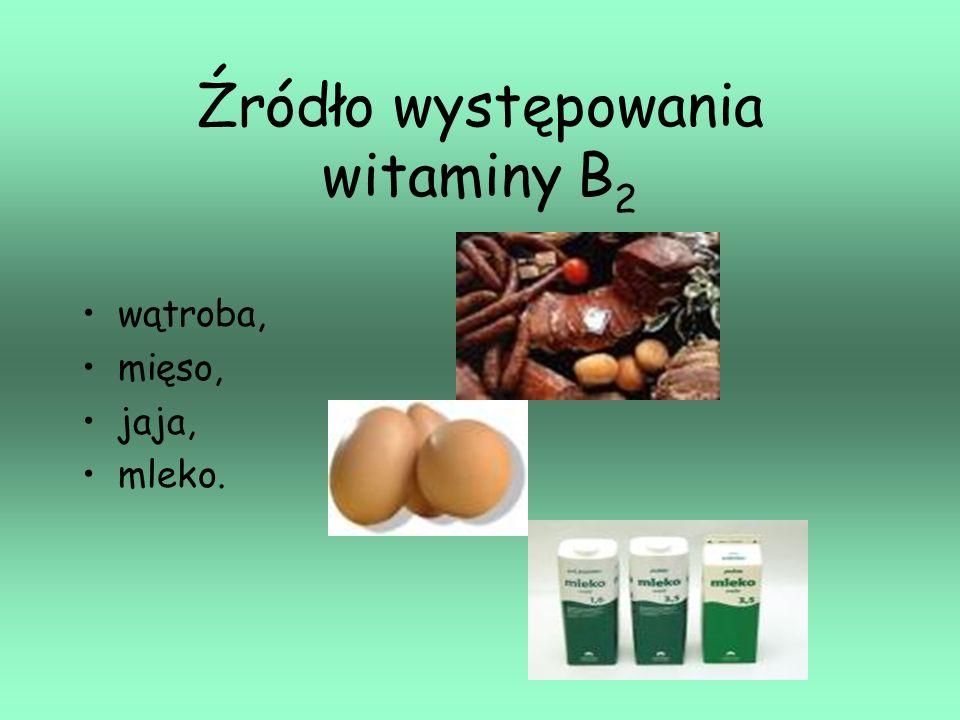 Źródło występowania witaminy B2