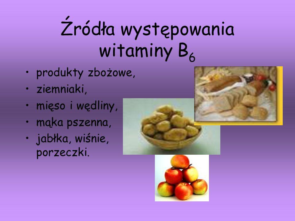 Źródła występowania witaminy B6