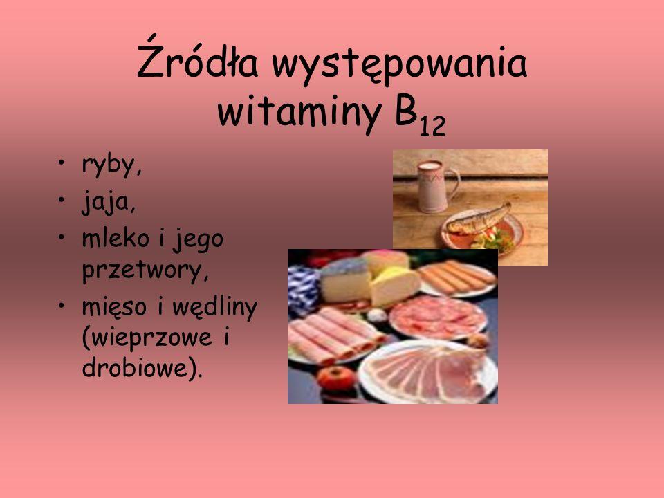 Źródła występowania witaminy B12