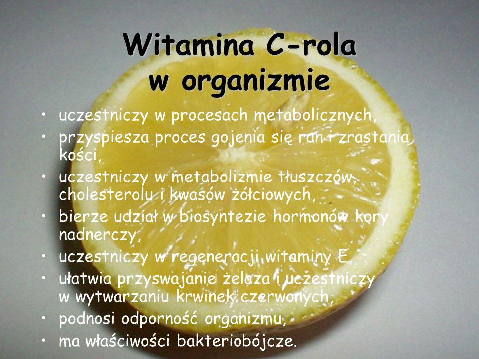 Witamina C-rola w organizmie