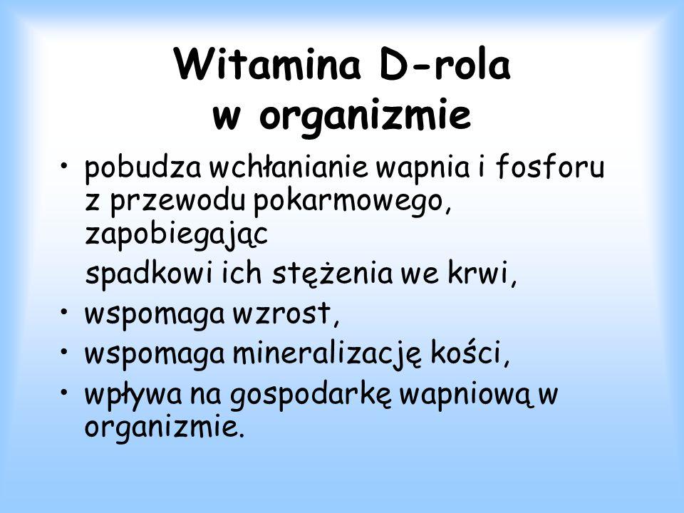 Witamina D-rola w organizmie
