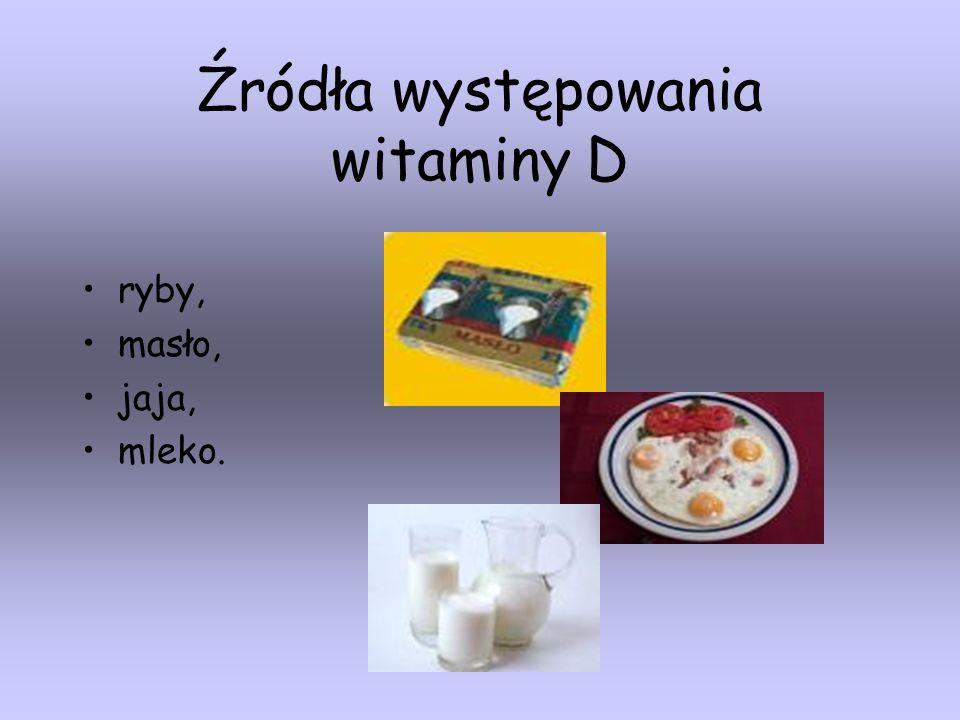 Źródła występowania witaminy D