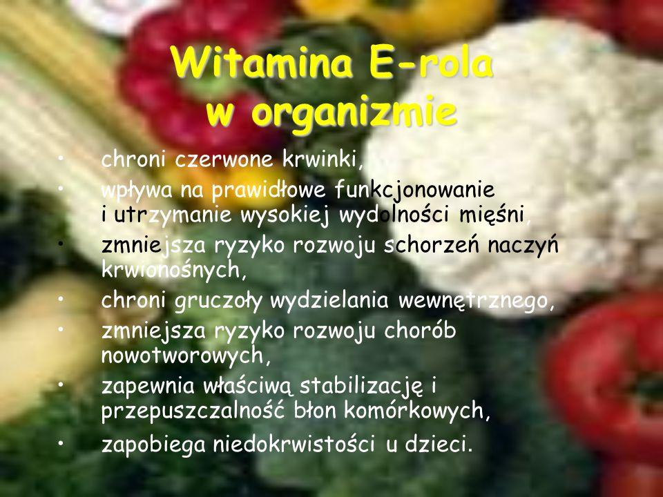Witamina E-rola w organizmie