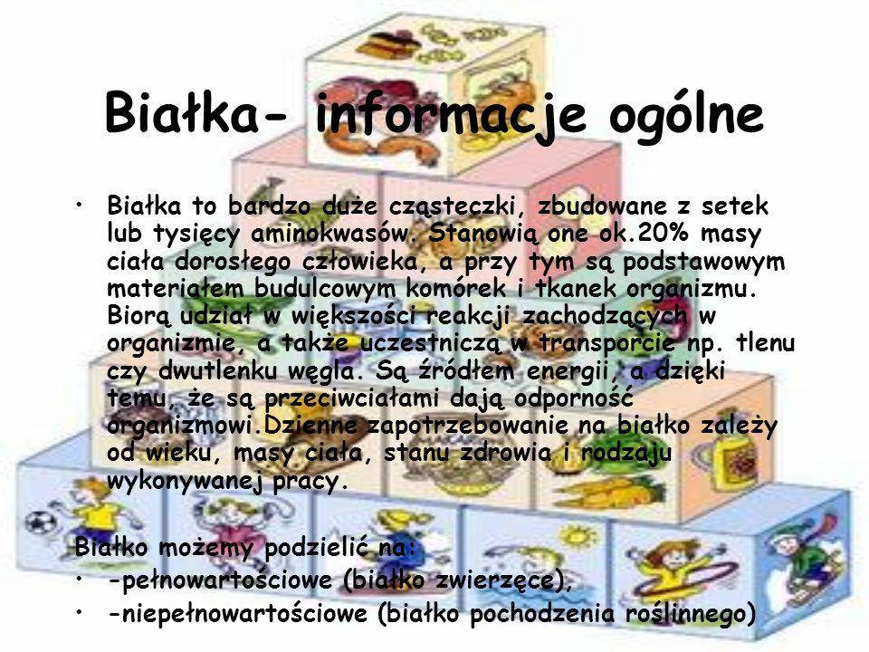 Białka- informacje ogólne