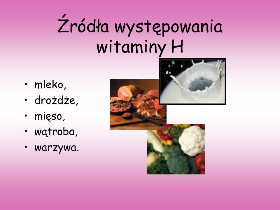 Źródła występowania witaminy H