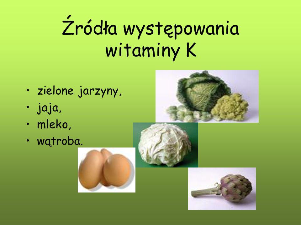Źródła występowania witaminy K